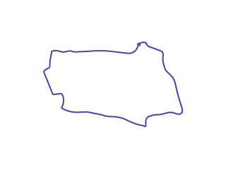 Map showing location of P: Purple Route